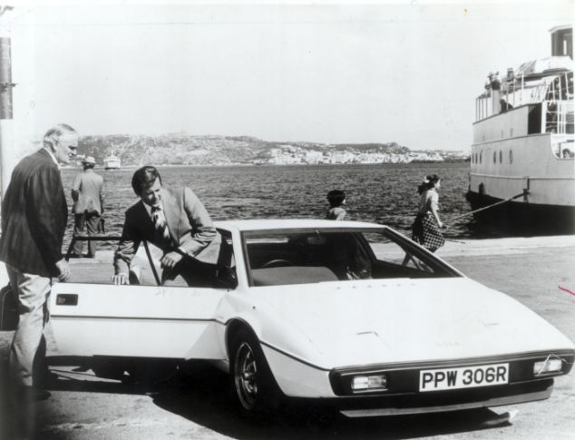 James Bond car driven by Roger Moore in The Spy Who Loved Me