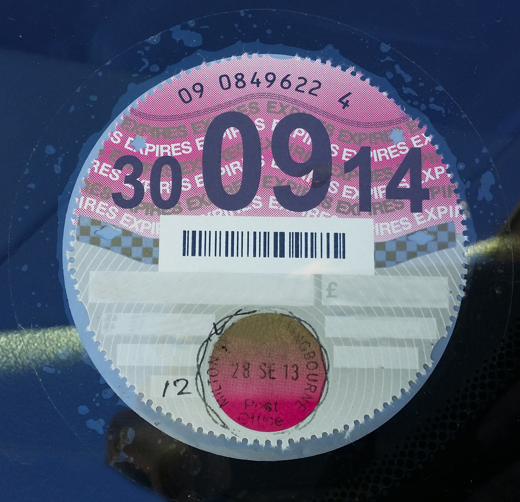 UK Tax Disc
