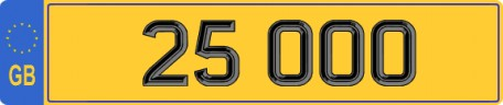 25000 25 OOO number plate