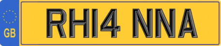 Rhianna number plate