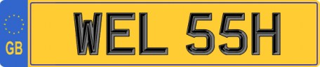 WELSH WALES number plate