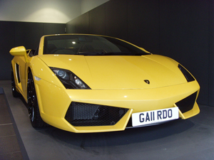 GA11 RDO number plate on Lamborghini Gallardo 1