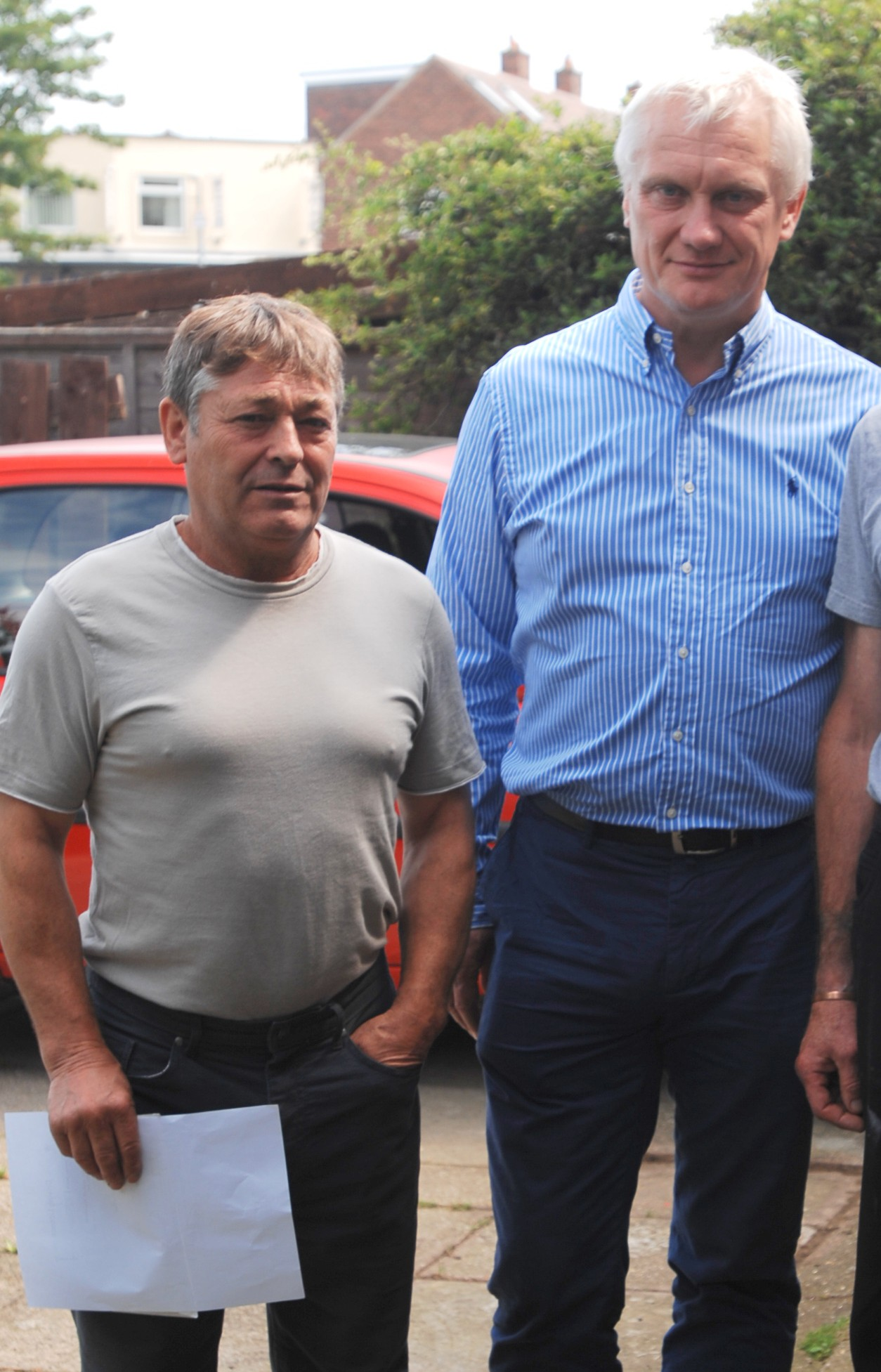 Geoff Bullingham (left) with MP Graham Stuart (right)