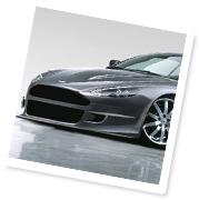 The Aston Martin roars ahead