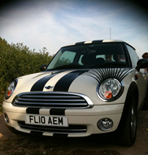 CarLashes eyelash personalisation used on cars