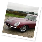 A classic E?Type Jaguar