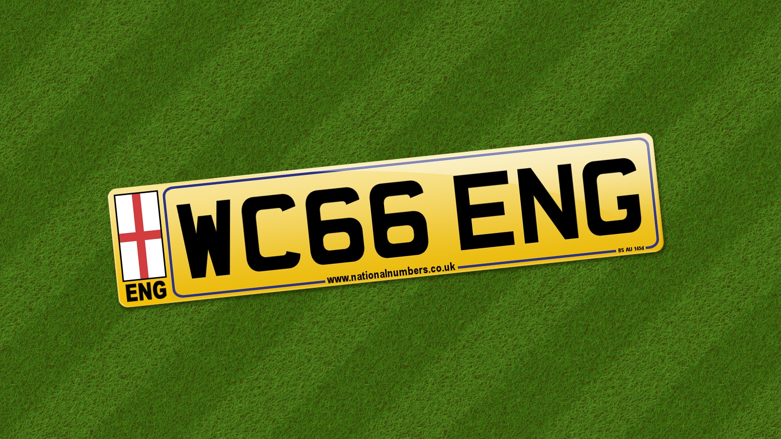 england 39 66 number plate from sir geoff hurst. Black Bedroom Furniture Sets. Home Design Ideas