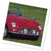 A classic MGB car