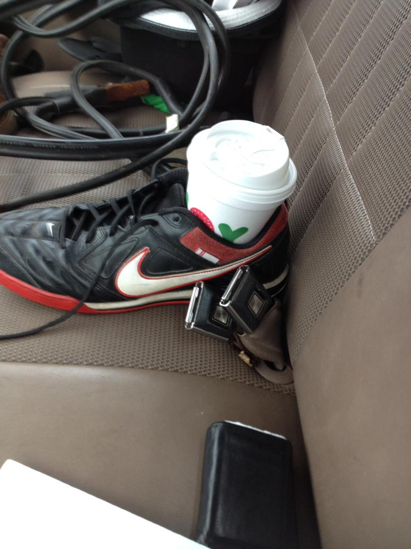 shoe cup holder car hack
