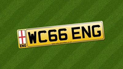 England '66 Number Plate from Sir Geoff Hurst
