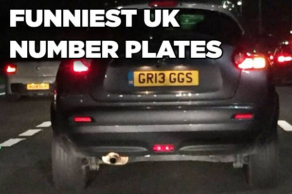 Funniest Number Plates on UK Roads