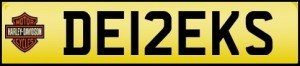 derek personalised number plates