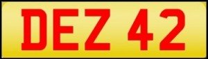 des personalised number plates
