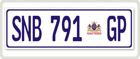 South African Number Plate