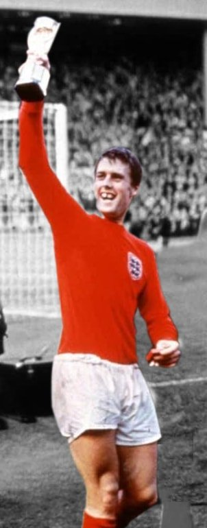 Geoff Hurst holding the World Cup