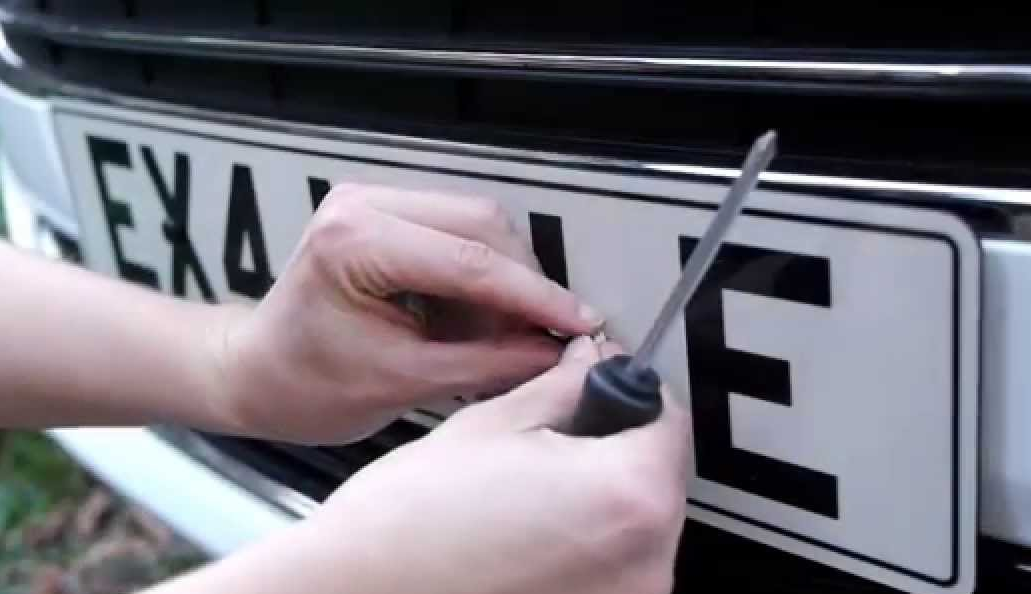 number-plate-fixing