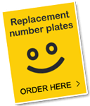Need replacement number plates? Order here!