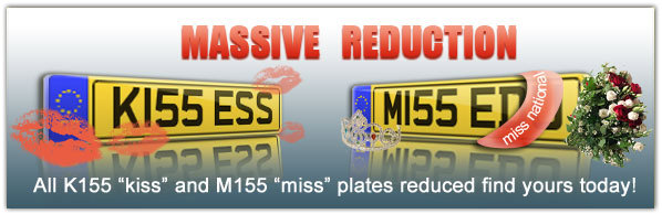 Massive reduction All K155 'kiss' and M155 'miss' plates - find yours today!