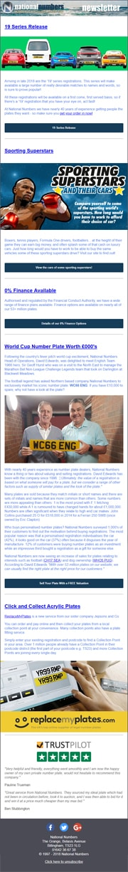National Numbers Newsletter - August 2018