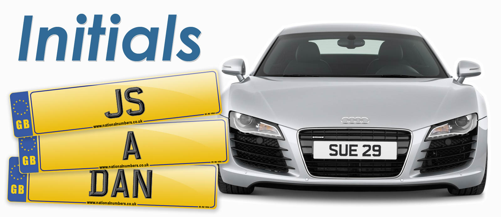 Find number plates to match your initials
