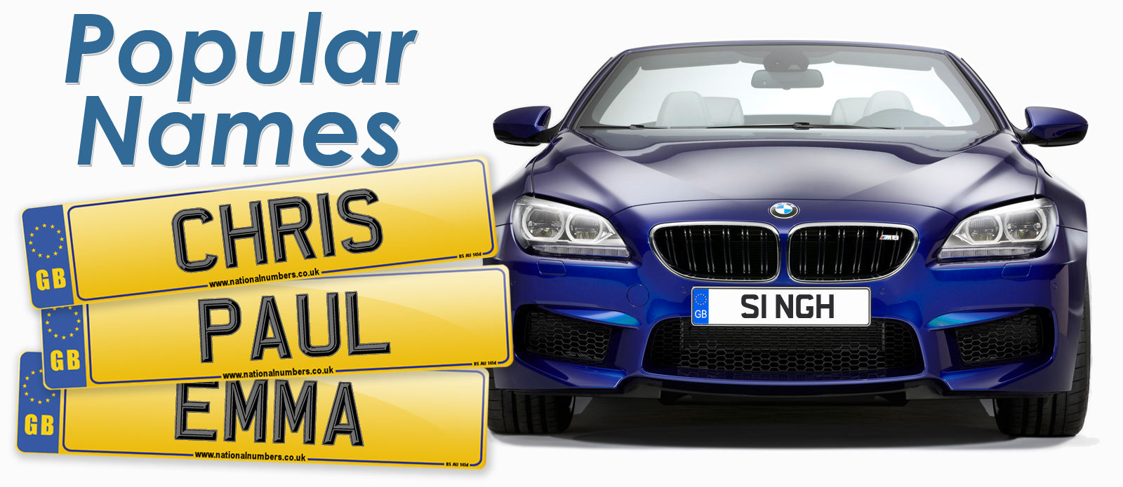 Find number plates to match your name