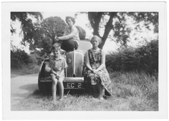 Mr. Abba and his family with EC 2 on a Standard 14 Saloon